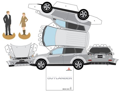 paper car template mitsubishi paper cars cartype autos weblog