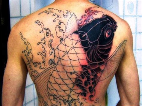 original tattoos 50 graceful koi fish tattoos for back