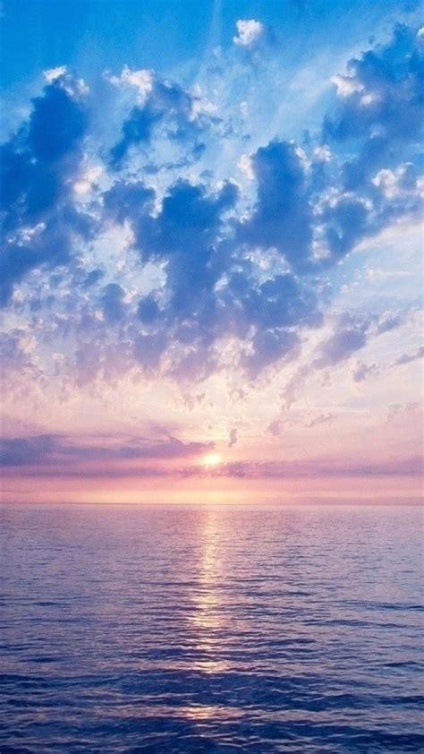 wallpaper iphone 5 landscape nature fantasy purple sunrise scene over sea iphone 6
