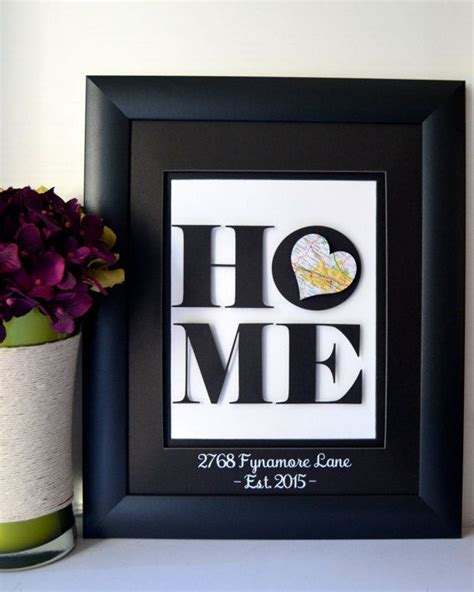 creative housewarming gifts unique housewarming gift new home address by
