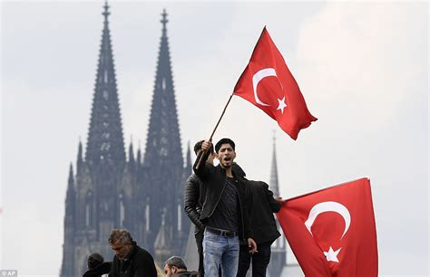 ottoman germany cologne protesters take to streets to show support for