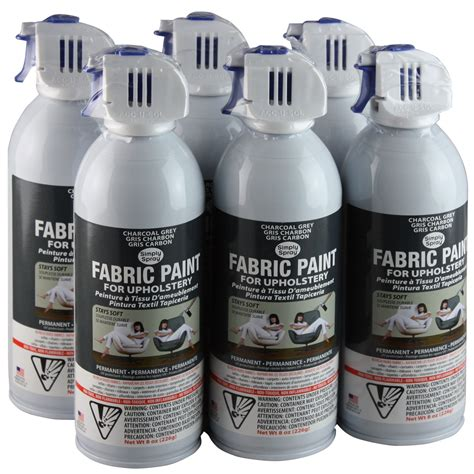 Simply Spray Upholstery Fabric Spray Paint 6 Pack Charcoal