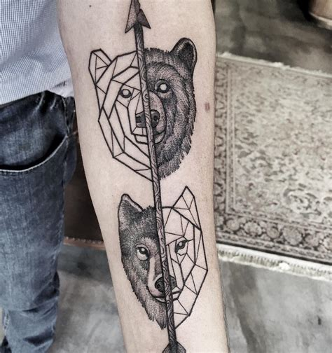 bear and wolf tattoo designs and wolf forever wolf bears and