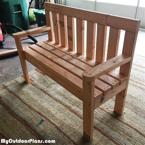 diy  wood garden bench myoutdoorplans