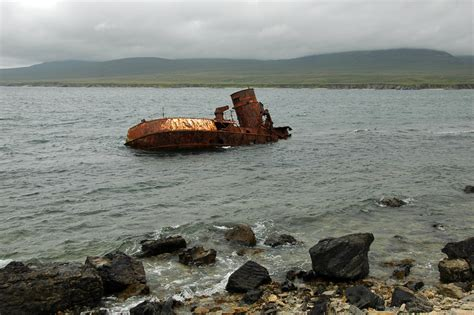wreck of the wyre majestic in 2000 isle of islay islay