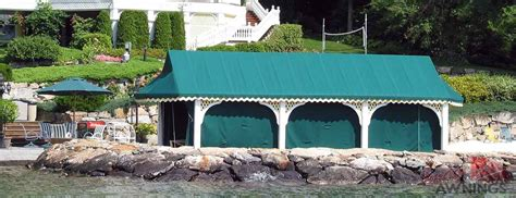 electric boat canopy image awnings nh custom awnings new hshire canopies