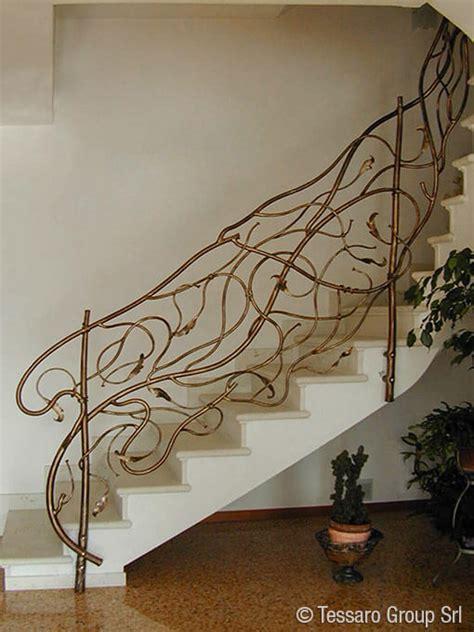 ringhiera in ferro battuto per interno tessaro ringhiere per scale interne