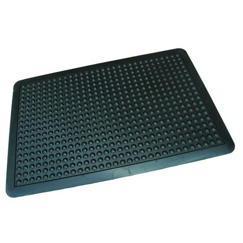 rhino anti fatigue mats ultra dome workstation 36 in x 48 in black commercial rubber garage