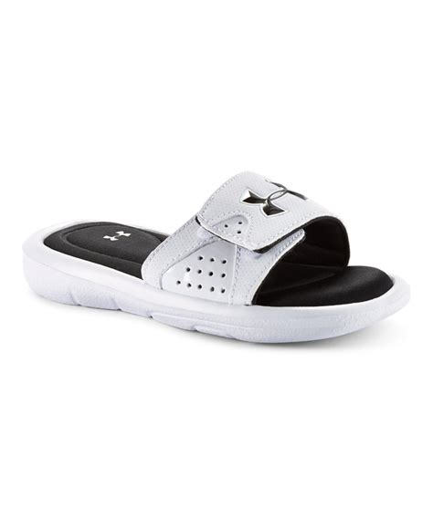 armour boys sandals boys armour ignite slide sandals ebay