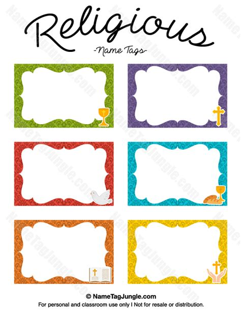 Tag Cards Template by Free Printable Religious Name Tags The Template Can Also