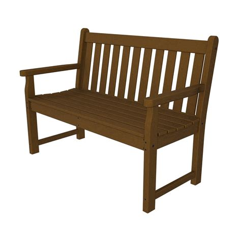 plastic patio bench shop polywood traditional garden 24 25 in w x 47 5 in l