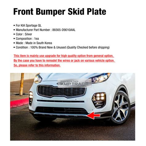 All New Innova Skid Plate Colour By Request oem front bumper duard skid silver plate guard diffuser for kia 2017 18 sportage