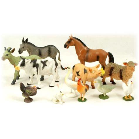 Wisebuy 12 New Plastic Animals Figures Set With Coconut Tree image gallery large farm animal toys