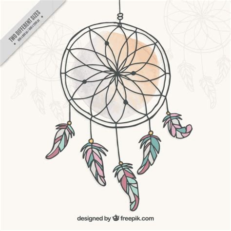 dreamcatcher hand drawn vector free download