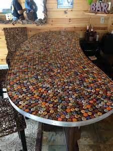 unique bar tops bottle top bar top ideas pinterest
