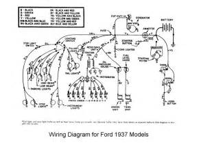 1937 Dodge Truck Wiring Harness Ford All Models 1937 Wiring Diagram All About Wiring