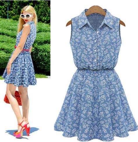 Dress Casual Cantik dress casual motif bunga cantik terbaru model terbaru