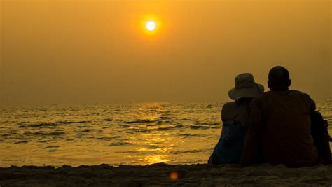 Goa India Beach Sunset   A couple set together and enjoy a b   Flickr