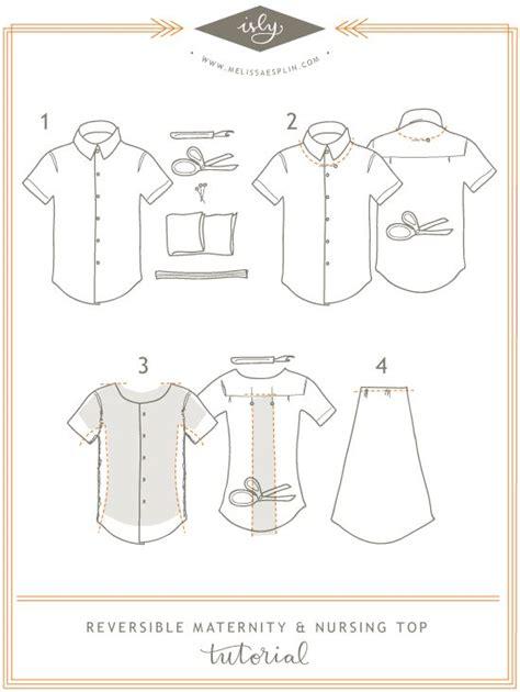 sewing pattern nursing shirt isly tutorial maternity nursing reversible refashion top