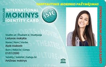 isic card template isic itic pažymėjimas ziptravel lt