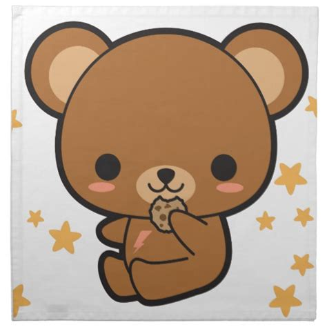imagenes de oso kawaii oso de kawaii brown servilleta de papel zazzle