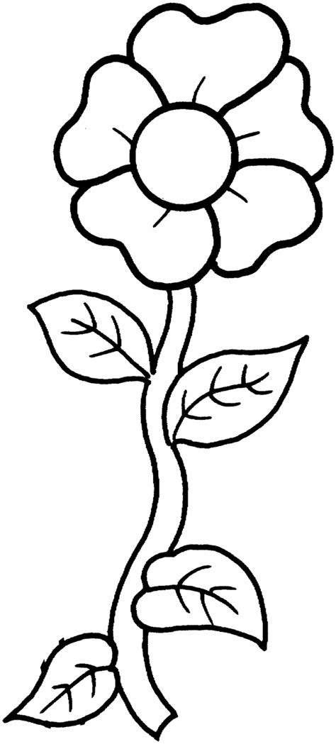 printable coloring pages for kids free printable flower coloring pages for kids best