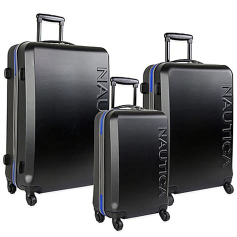 bed bath beyond luggage nautica 174 ahoy 3 piece hardside spinner luggage set bed