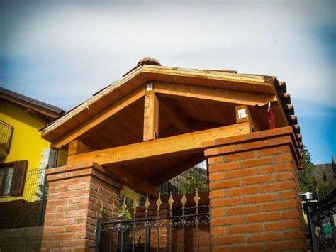 tettoia ingresso tettoia e ingresso in legno gandelli