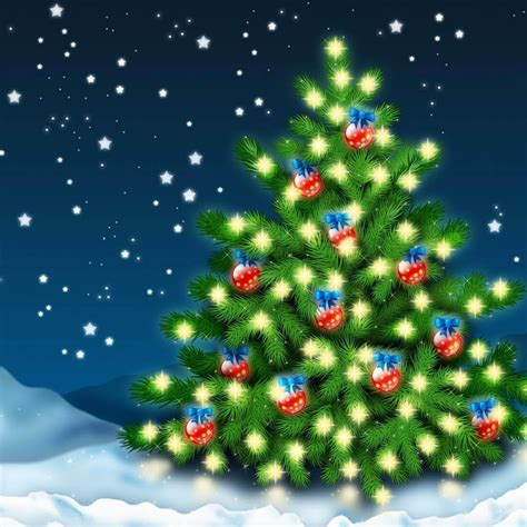 wallpaper animasi natal download gratis pohon natal gambar animasi gratis pohon
