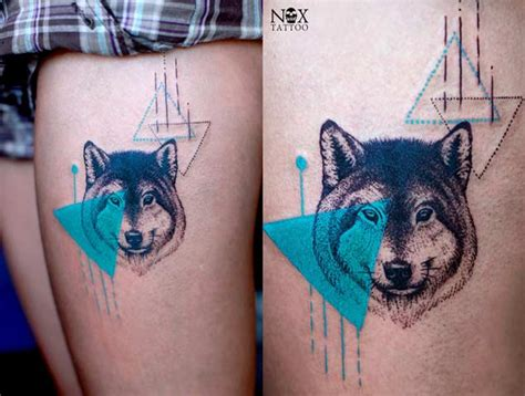 geometric wolf tattoo 25 amazing geometric dotwork wolf tattoos tattooblend