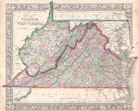 of virginia l 1863 map reveals change in the virginia landscape