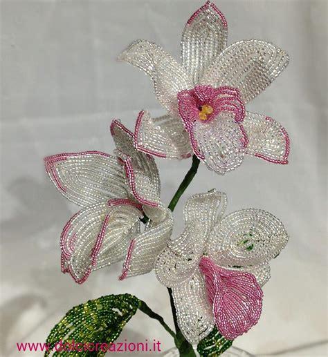 fiori di perline schemi gratis fiori di perline beaded flowers orchidea orchid