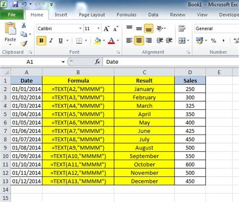 date format php month name how to convert a date into a month name in excel 2010