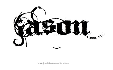 jason tattoo designs jason name designs jason tattoos