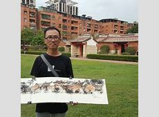 Ch'ng Kiah Kiean with his artwork | Art @ China House in ... New York Skyline Drawing Autistic