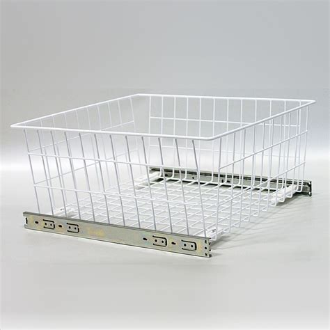 Wardrobe Wire Baskets by Wardrobe Md Pull Out Wire Baskets In White