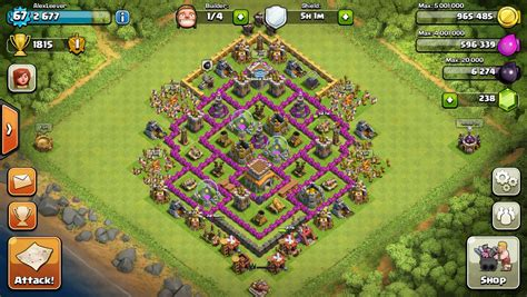 coc defense layout th8 clash of clans base th 8