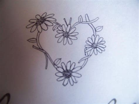 heart chain tattoo designs image detail for daisychain design by