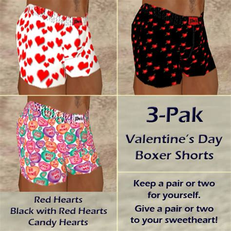 valentines mens boxers second marketplace s day boxers 3 pak 1