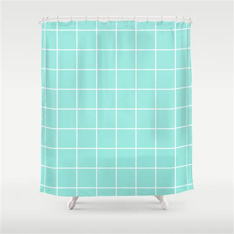 tiffany shower curtain grid tiffany blue shower curtain by from society6 cases