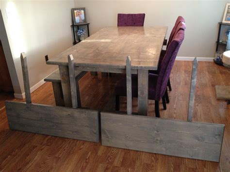 white farmhouse table table extension and bench