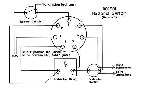 panel mounted push on hazard switch