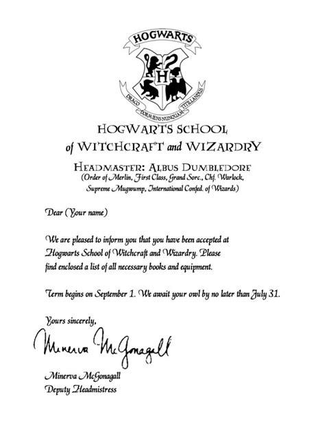 Hogwarts Acceptance Letter Bundle hogwarts acceptance letter printable acceptance letter