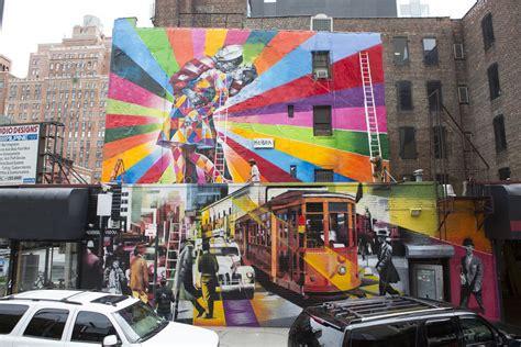 Wall Murals Los Angeles street art mural by eduardo kobra in new york street