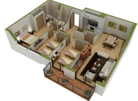 Room Planner Home Design Chief Architect by 12 Denah Rumah 3 Kamar Minimalis 3d 2018