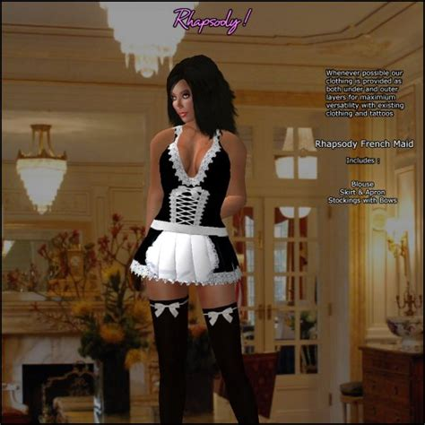 using sissy maids for real maid duties collarchatcom second life marketplace rhapsody french maid