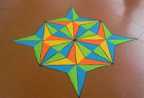 Geometric Pattern Rangoli | top 7 geometric rangoli designs styles at life