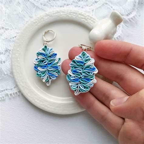 polymer clay jewelry techniques russian artist handcrafts this polymer clay jewelry in