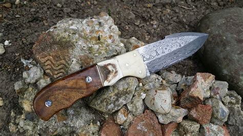 Handmade Bushcraft Knives - handmade damascus bushcraft knife bt14 perkin