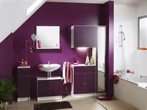 meuble salle de bain couleur prune peinture faience